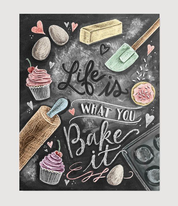 Life just wouldn't be the same without cupcakes, cookies and all the chocolates! This design is for those who keep our sweet tooths satisfied and our hearts full! ♥ Our fine art chalkboard prints will