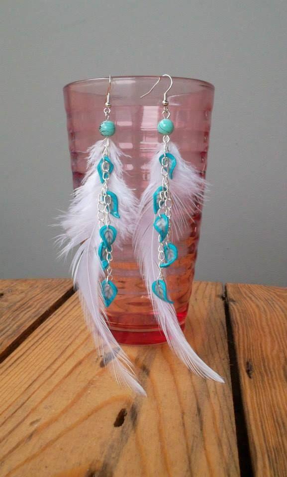 Boucles d'oreilles Zannéo Spécial cérémonie Blanche et bleu