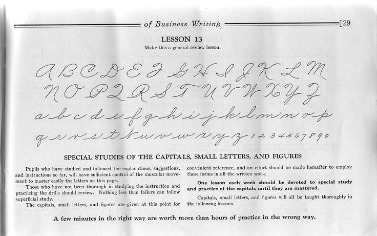 What Handwriting Did You Learn In School?