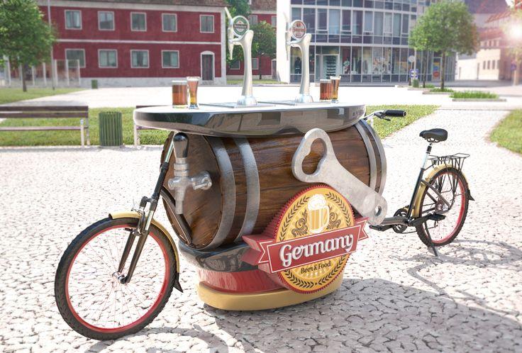 As Food Bikes são muito usadas em eventos. Esta é a bike food de chopp, com design de barril e toda estilizada para este segmento. Quer um projeto exclusivo para você? Fale conosco! (19) 3115.3900