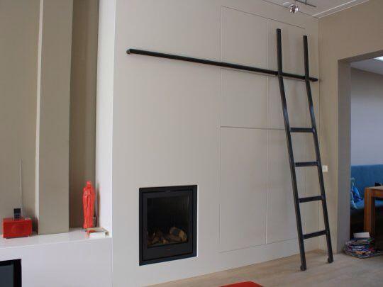 Zwart wit met ladder