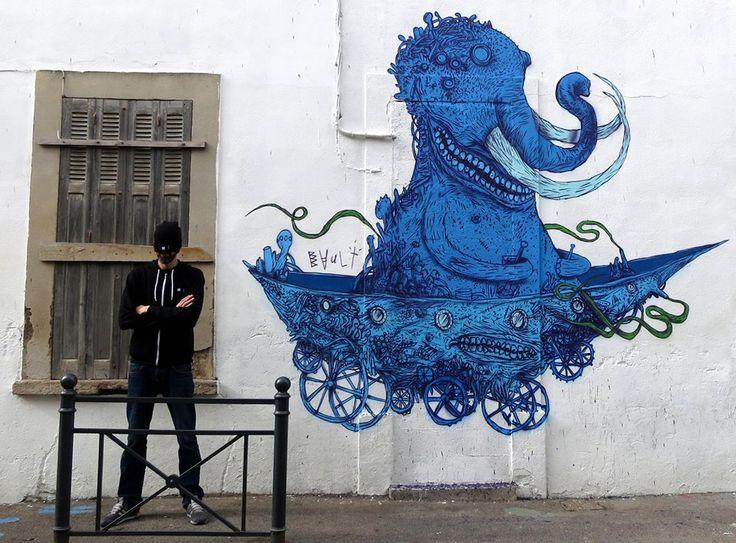 Artist Bault.... Le M.U.R De Toulon...France