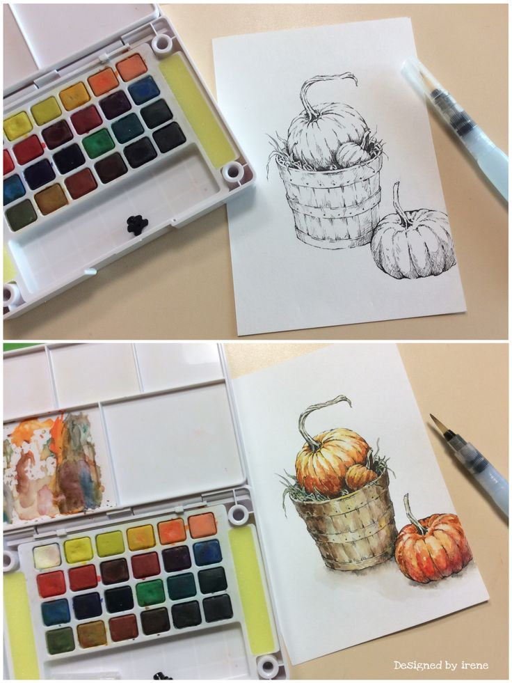 Watercolor-pumpkin❤️