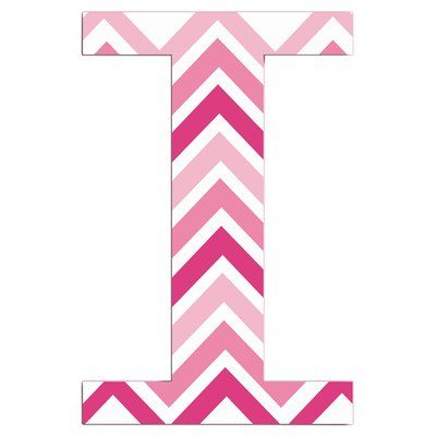 Stupell Industries Chevron Initial Wall Décor Letter: N, Finish: Pink