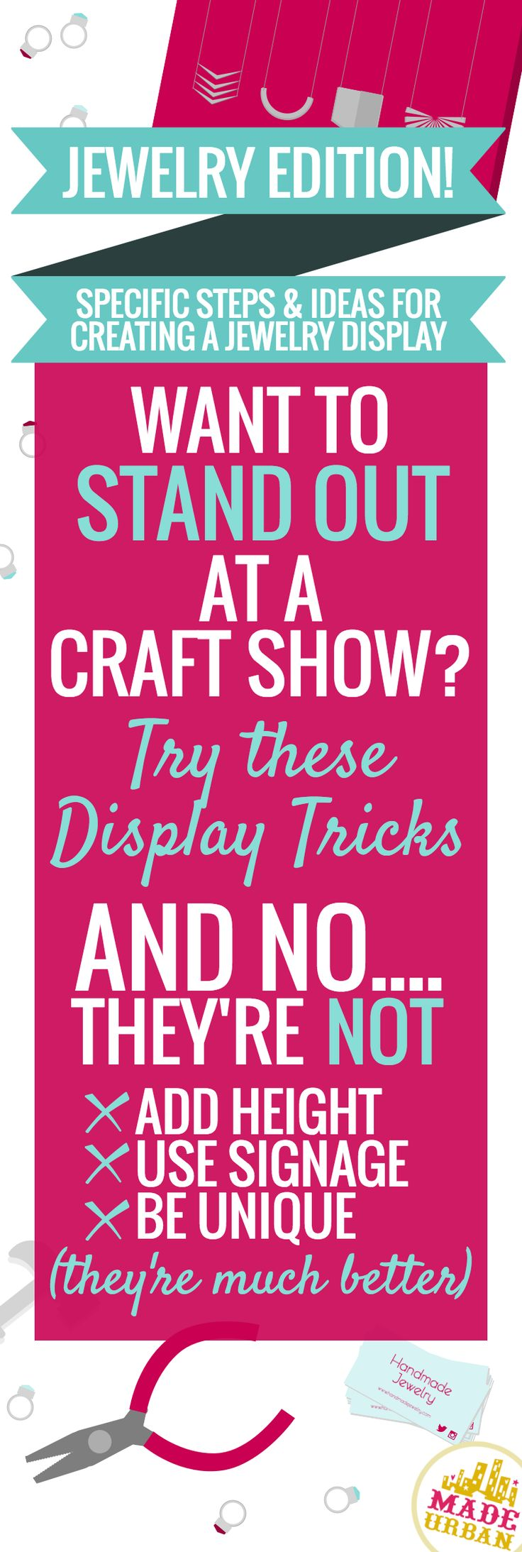 HOW TO DISPLAY JEWELRY AT A CRAFT FAIR - steps, ideas and examples on how to create an effective display for your handmade jewelry at a craft show | Made Urban