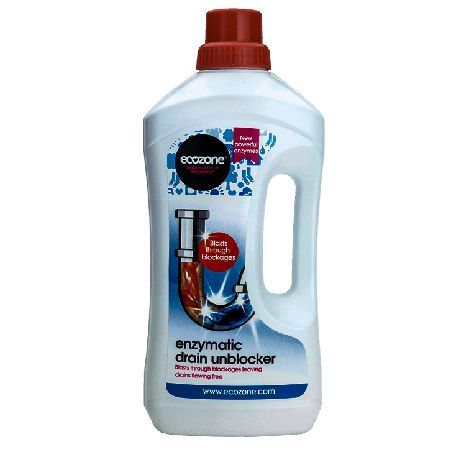 Ecozone Kitchen Drain Unblocker 1 Litre - Ecozone Drain Unblocker is an enzyme based treatment for blocked drains. It contains specially developed enzymes that slowly eat away through tough blockages. The advanced formula actively breaks down http://www.MightGet.com/march-2017-1/ecozone-kitchen-drain-unblocker-1-litre-.asp