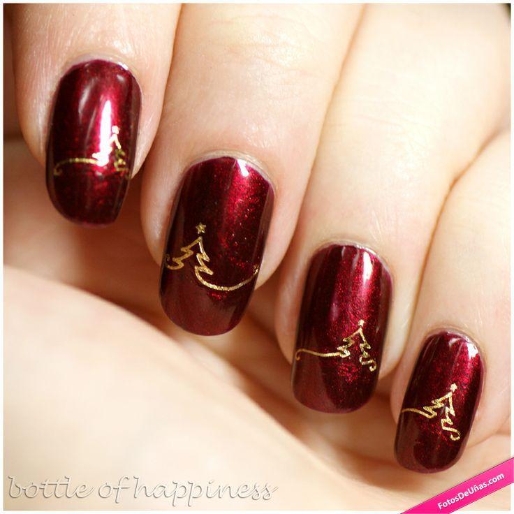 Decoración de uñas elegantes para Navidad