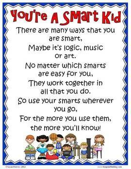 Free Set of Multiple Intelligence Posters for younger students.  Set of 9 posters!