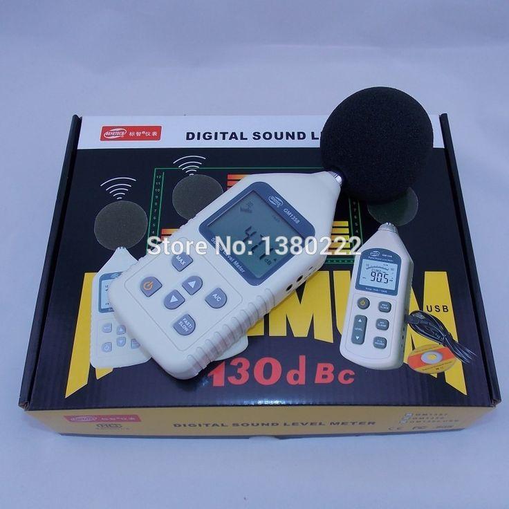 Шум метр GM1358 Цифровой Звук Шума Измеритель Уровня Децибел Давления 30-130dB ЖК A/C FAST/SLOW дб С Carry Box