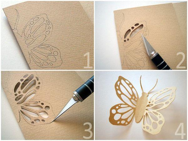 Украшения из бумаги: бабочка