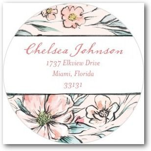 Darling Buds - Personalized Address Labels - Bonnie Marcus - Wild Strawberry - Pink : Front