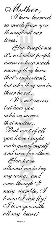 to my mom  <3.  Hope to pass the same onto my children.