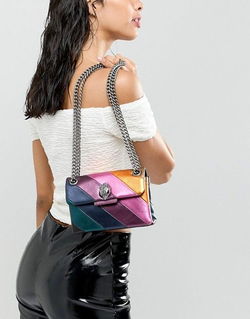 a5fe6db5b7df Kurt Geiger London | Kurt Geiger Mini Kensington leather rainbow cross body  bag