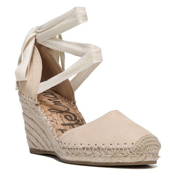 Women's Sam Edelman Patsy Wraparound Espadrille Wedge ($80) ❤ liked on Polyvore featuring shoes, sandals, summer sand leather, sam edelman sandals, wedge espadrilles, braided leather sandals, wedge sandals and sam edelman espadrilles