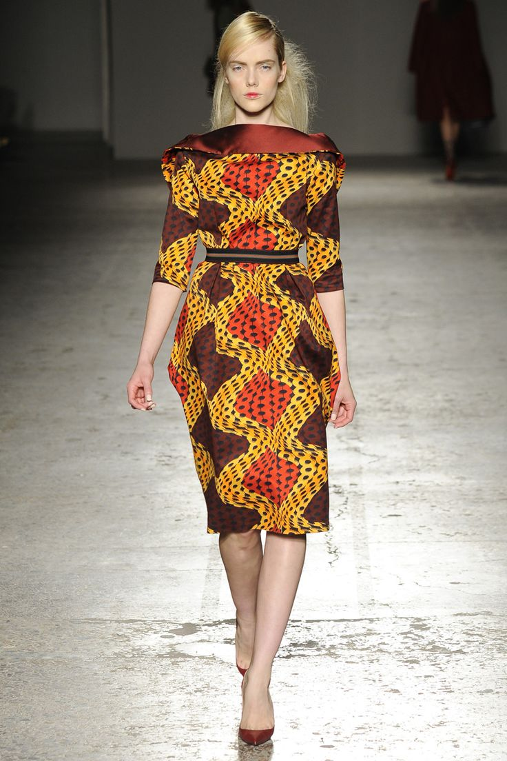 Ethnic Fusion --- Stella Jean Fall 2014 RTW - Runway Photos - Fashion Week - Runway, Fashion Shows and Collections - Vogue