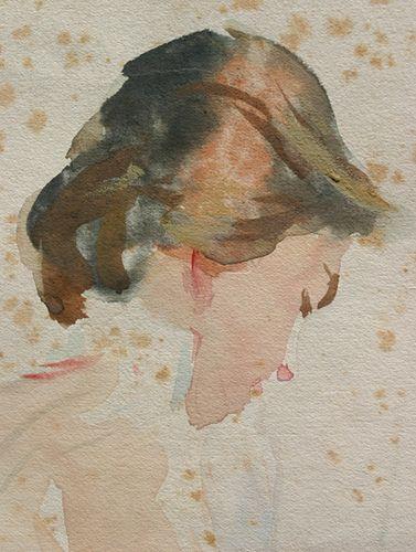 John Singer Sargent watercolor, detail | Flickr - Photo Sharing!