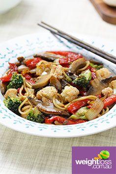 Honey Mushroom Stir Fry. #HealthyRecipes #DietRecipes #WeightLossRecipes weightloss.com.au