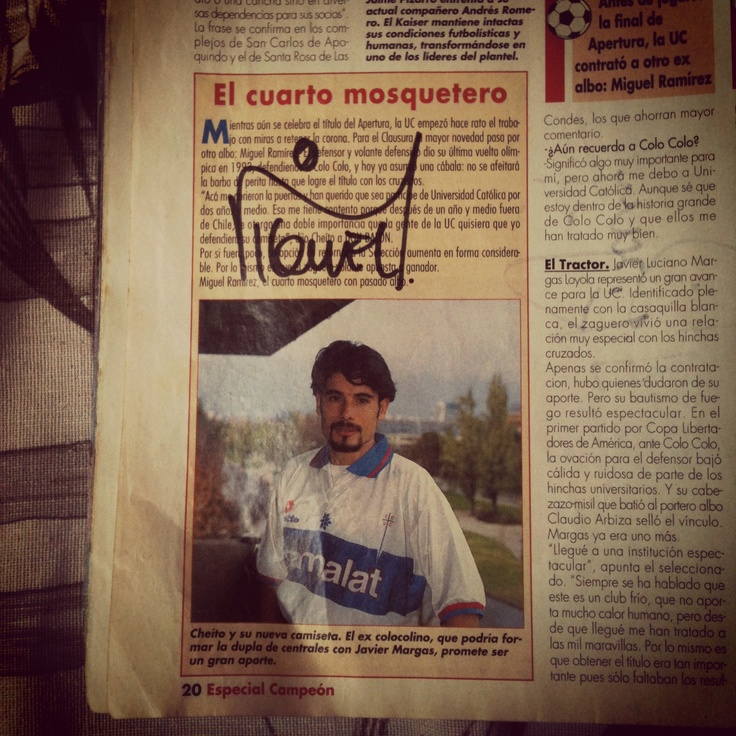 Autografo Miguel Ramirez. #LosCruzados