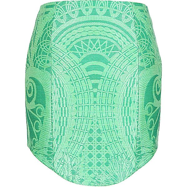 Balmain green raffia-effect short skirt ($900) ❤ liked on Polyvore featuring skirts, mini skirts, bottoms, saias, balmain, green skirt, zipper skirt, metallic mini skirt and short mini skirts