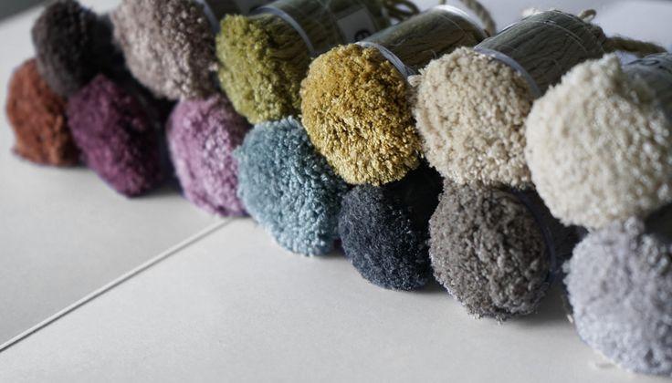 Silk pom-poms for the ICON rug.