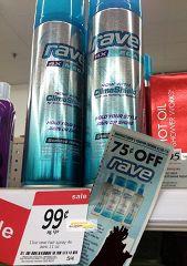 Free Rave Hairspray At Kmart!