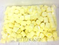 Giant 1kg bag of fluffy yellow marshmallows confectionary
