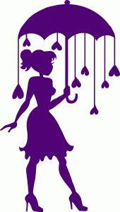 Silhouette Design Store - View Design #73169: heart raindrops umbrella silhouette