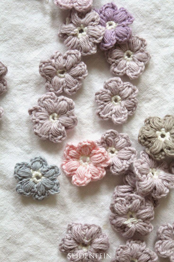 Streublümchen häkeln * DIY * crochet little daisys - von: seidenfeins Blog vom schönen Landleben