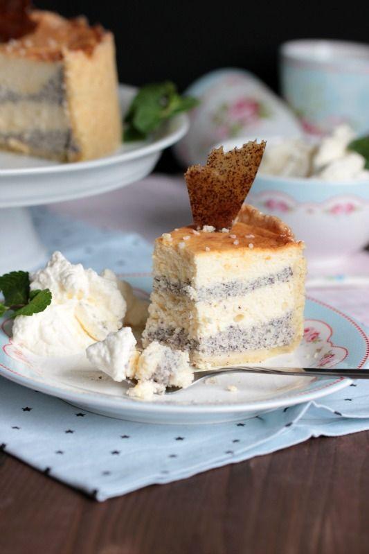 Mascarpone-Mohn-Torte - Cheesecake mal anders