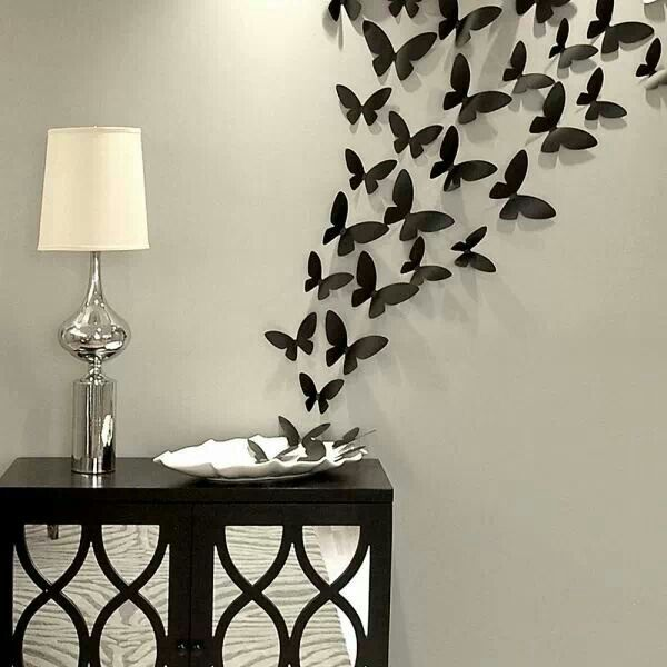 Superior Diy Home Wall Decor Ideas Part - 2: DIY Butterfly Wall Art Diy Crafts Craft Ideas Easy Crafts Diy Ideas Diy  Idea Diy Home Easy Diy For The Home Crafty Decor Home Ideas Diy Decorations  Craft ...