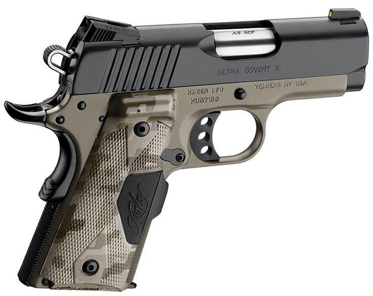 Kimber Ultra Covert II Pistol - .45 ACP, 3 in Barrel, Aluminum Frame, Matte Black Oxide Slide