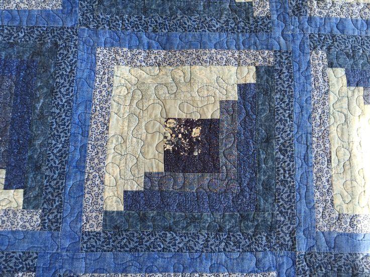 Detalle de cubrecama en patchwork (270cmx270cm). Más de 1.300 piezas de tela unidas!