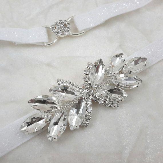 Bridal Belt Sash Skinny Rhinestone BeltThin Bridal Sash
