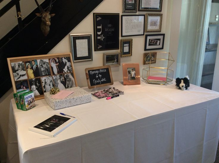 Gift table inspiration from tonight's wedding