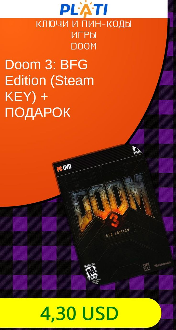 Doom 3: BFG Edition (Steam KEY)   ПОДАРОК Ключи и пин-коды Игры Doom