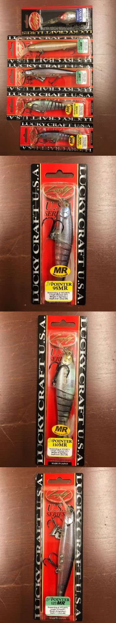 Other Baits Lures and Flies 31693: Lucky Craft Assortment Pointer And Moonsalt 95Mr 110Mr 127Mr Cb350 -> BUY IT NOW ONLY: $60 on eBay!