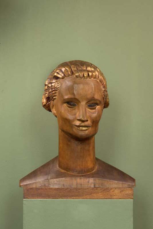 xawery dunikowski, głowa polki, 1917-1920, drewno polichromowane