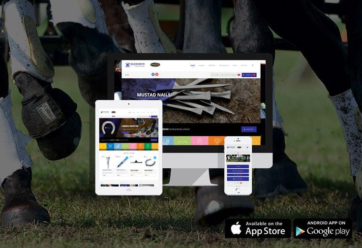 E-commerce responsive e APP per l'azienda specializzata in strumenti per la mascalcia.   Grazie al sito e-commerce e alla APP per iPhone e Android, i maniscalchi potranno acquistare attrezzi e utensili per il loro lavoro: ferri da cavallo, forge, incudini, martelli e accessori per la cura del cavallo e per la sicurezza. Blacksmith snc è distributore esclusivo per l'Italia di MUSTAD HOOFCARE, leader mondiale nella produzione di attrezzi per mascalcia. #webdesign