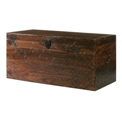 Home Decorators Collection 18.5 in. H x 38 in. W Maldives Trunk in Walnut-0213700820 at The Home Depot