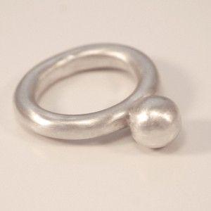 Silver ring by Rikke Kjelgaard