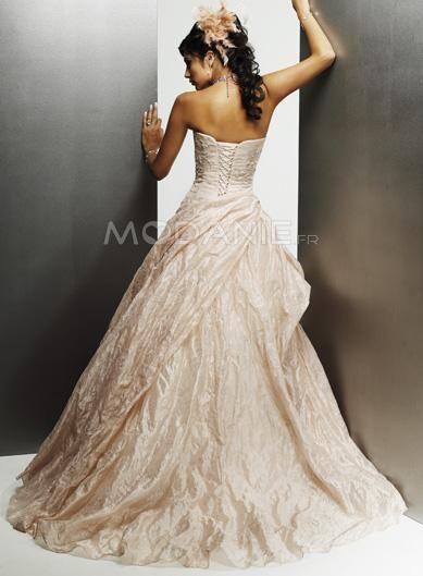 Robe en couleur satin taffeta traine balayée robe de mariée [#M1406205639] - modanie