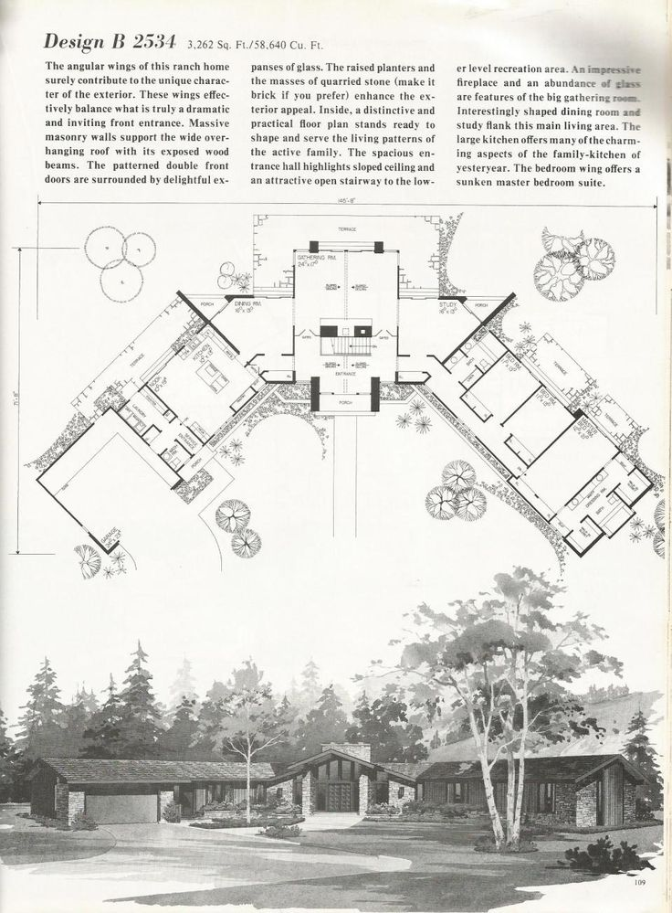 1000 images about mid century mod architecture on for Mid century floor plans