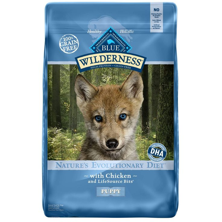 Blue buffalo wilderness puppy chicken dry dog food 24lb