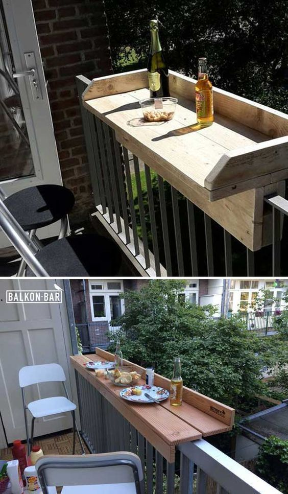 Balcony Table - All of us wants to stay outside for enjoy the nature. Spending time with family and friends in the garden, backyard or even the balcony is a real pleasure. If you are looking for something to decorate your outdoor area then DIY furniture can make your outdoor space look awesome. Not only for an outdoor [...] #balconygarden #diyfurnitureoutdoor
