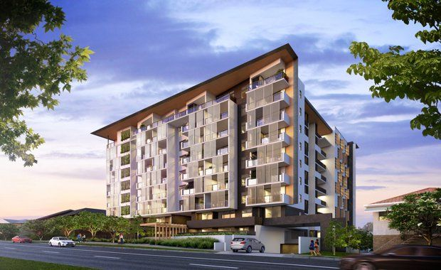 Construction has commenced on Village Building Co's $66 million 'Westside Apartments' project at Indooroopilly, with more than half of the apartments sold.