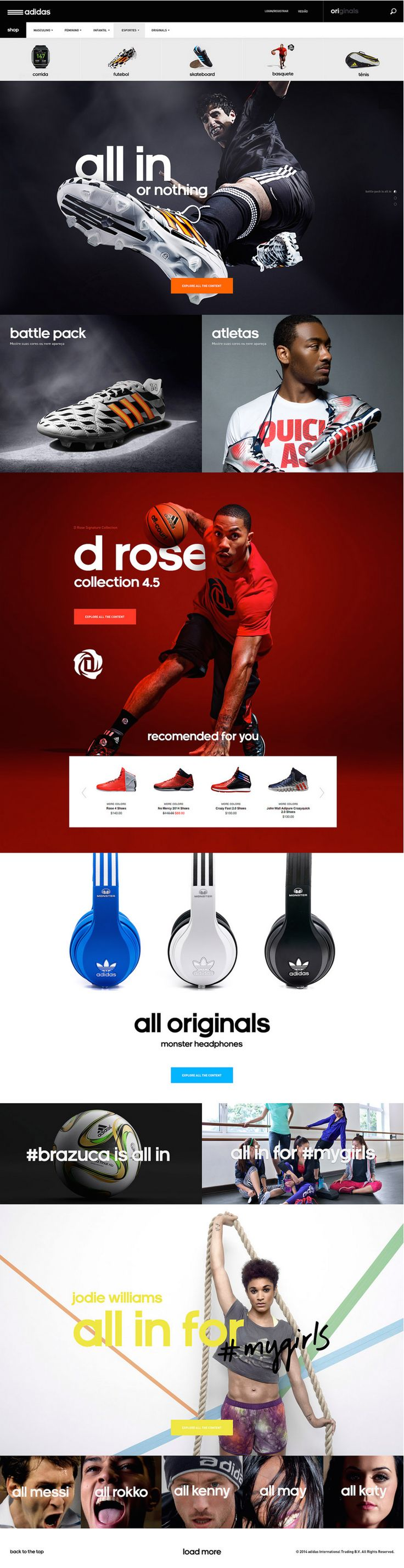 Cool Web Designs Adidas project