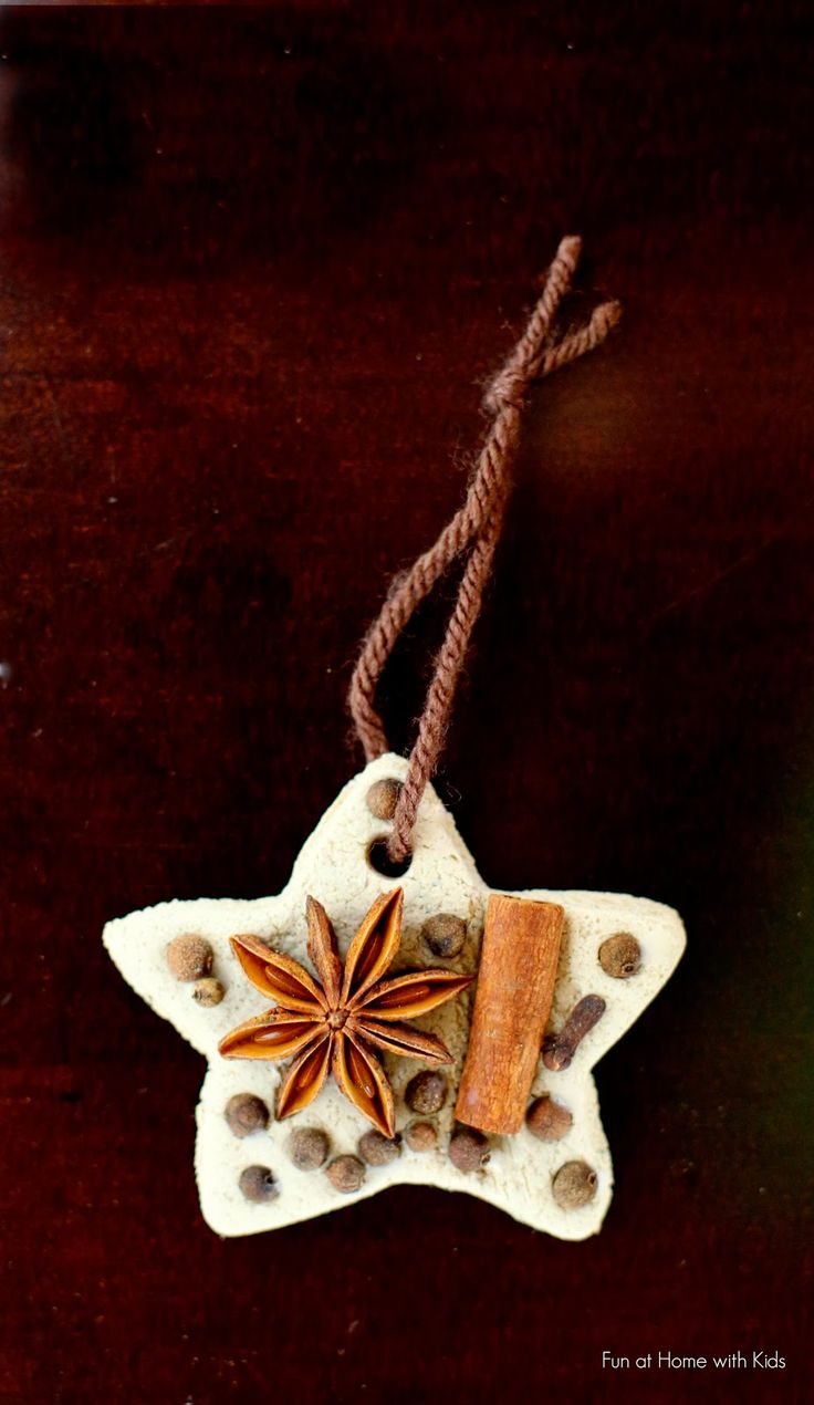 Chai Tea Salt Dough and Whole Spice Ornaments from Fun at Home with Kids: