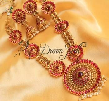Gorgeous huge antique royal kemp long necklace set