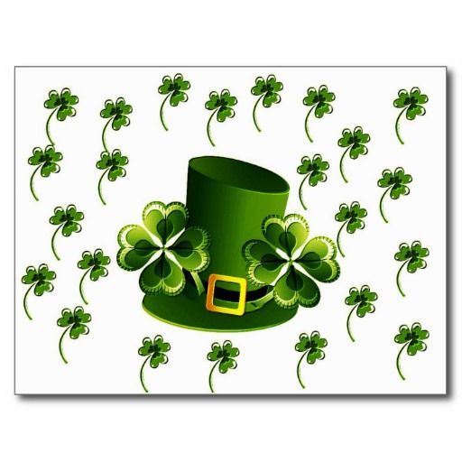 Irish Shamrock Art Postcards