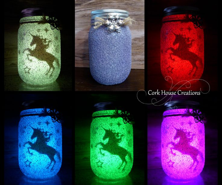 Color Changing Unicorn Jar - Fairy Lantern. Now for SALE on Etsy! https://www.etsy.com/listing/453198842/